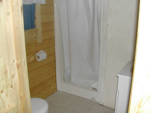 bathroom in cabin