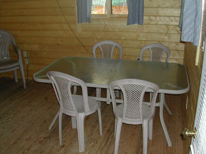 dining area in cabin